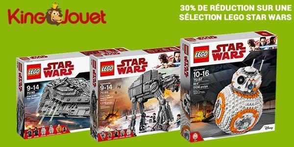 Chez King Jouet : 30% de réduction sur LEGO Star Wars