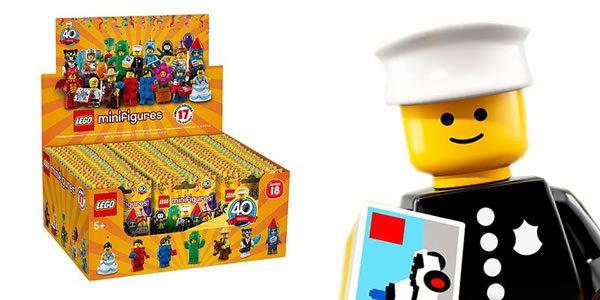 71021 Minifigures Series 18 : la boite de 60 sachets est disponible chez amazon