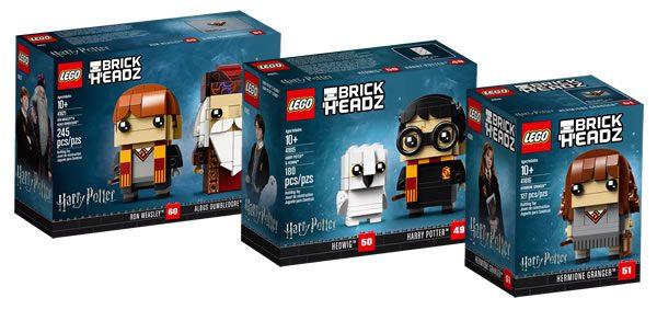 LEGO BrickHeadz Harry Potter : Les visuels officiels des trois sets prévus