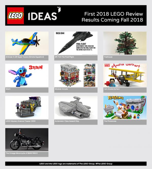 LEGO Ideas :10 projets en lice pour la première fournée de 2018