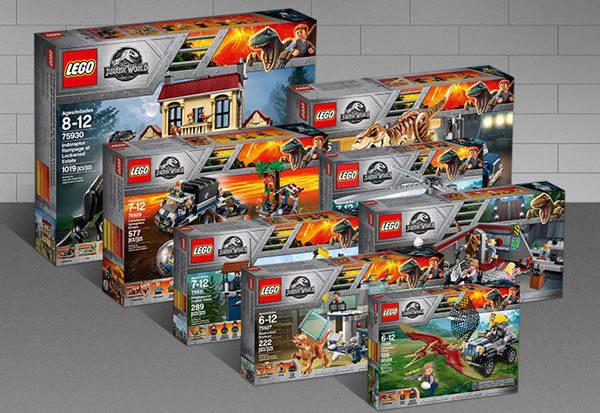 Sets LEGO Jurassic World : Plusieurs boites sont exclusives à certaines enseignes