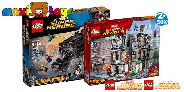 Chez Maxi Toys : -50% sur le 2nd set LEGO Super Heroes