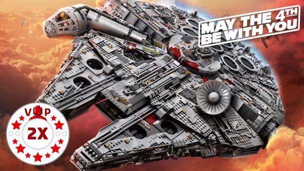 Shop LEGO : Points VIP doublés aussi pour le set 75192 UCS Millennium Falcon