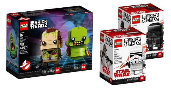 Nouveautés LEGO BrickHeadz 2018 : quelques visuels officiels