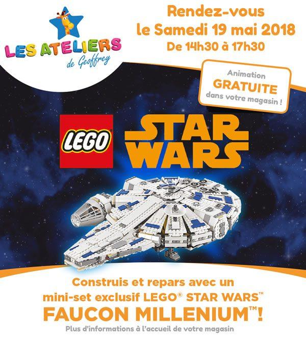 Chez Toys R Us : Un Millennium Falcon LEGO gratuit le 19 mai 2018
