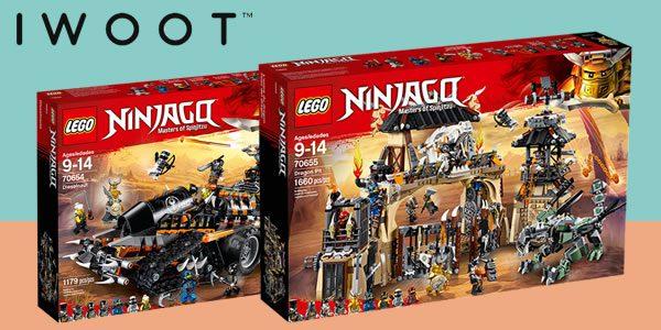 Chez IWOOT : 15% de réduction sur deux nouveautés LEGO Ninjago