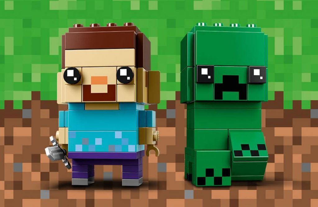 nouveaut lego brickheadz minecraft 41612 steve creeper hoth bricks. Black Bedroom Furniture Sets. Home Design Ideas