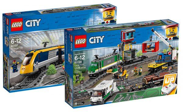 LEGO CITY 60197 Passenger Train & 60198 Cargo Train
