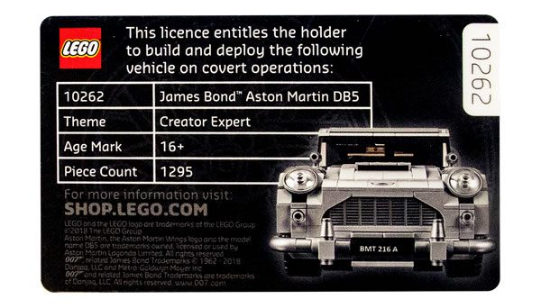 5005665 Licence to Build Exclusive Card