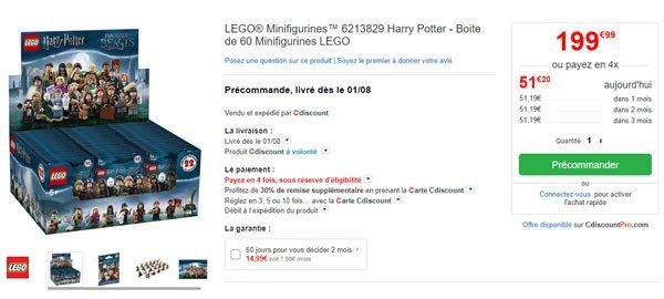 LEGO® Minifigurines™ 6213829 Boite 60 Minifigurines LEGO Harry Potter chez Cdiscount