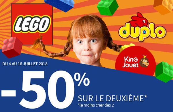 Chez King Jouet : -50% sur le deuxième produit LEGO ou DUPLO