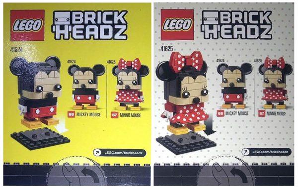 LEGO BrickHeadz 41624 Mickey Mouse & 41625 Minnie Mouse