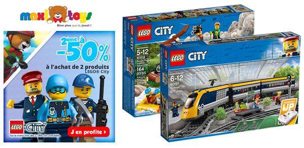 Chez Maxi Toys : -50% sur le deuxième set LEGO CITY ou Friends