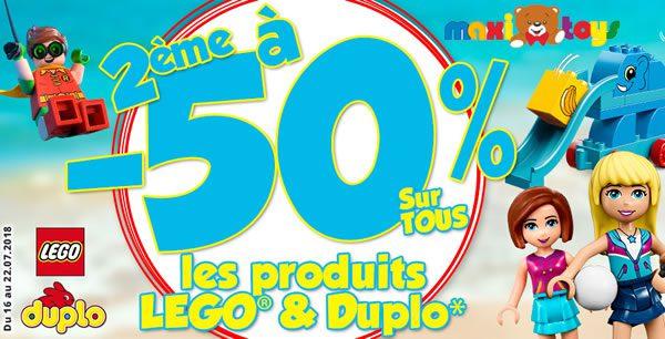 Chez Maxi Toys : -50% sur le deuxième set LEGO