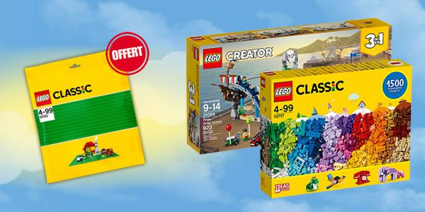 Sur le Shop LEGO : Plaque de base verte offerte dès 40 € d'achat
