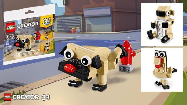 Sur le Shop LEGO : Polybag Creator 30542 Cute Pug offert dès 35 € d'achat