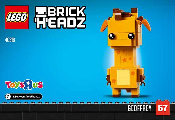 Nouveauté LEGO BrickHeadz (ou pas) : 40316 Geoffrey la girafe