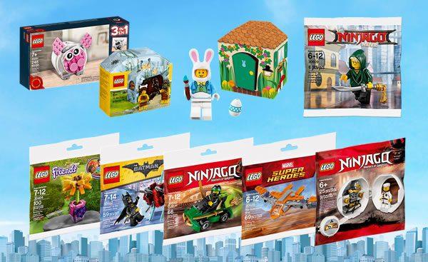 Sur le Shop LEGO : Petits sets et polybags promotionnels disponibles à la vente