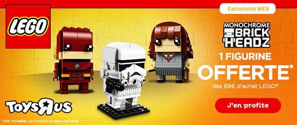Chez Toys R Us : Une figurine LEGO BrickHeadz offerte dès 69 € d'achat