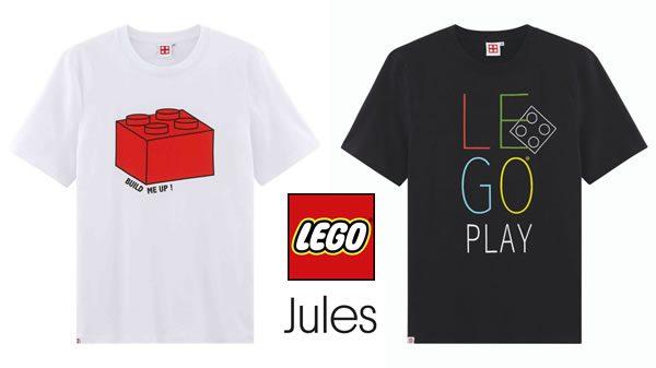 Après UNIQLO, l'enseigne Jules se met aux t-shirts LEGO