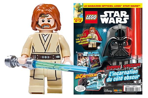 magazine lego star wars extra  obiwan kenobi offert avec