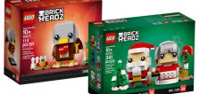 Nouveautés LEGO BrickHeadz : 40273 Thanksgiving Turkey et 40274 Mr & Ms. Claus