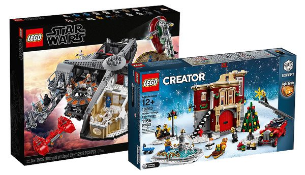 LEGO Star Wars 75222 Betrayal at Cloud City (349.99€) et Creator Expert 10263 Winter Village Fire Station (99.99 €)