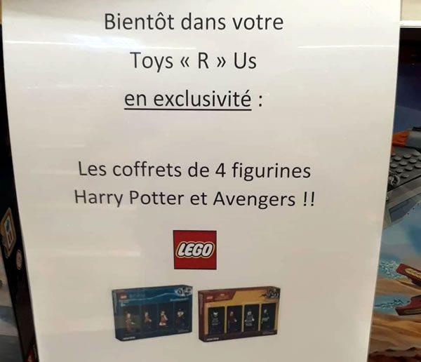 Packs de minifigs en édition limitée : ils arrivent en France...et ce sera bien chez Toys R Us