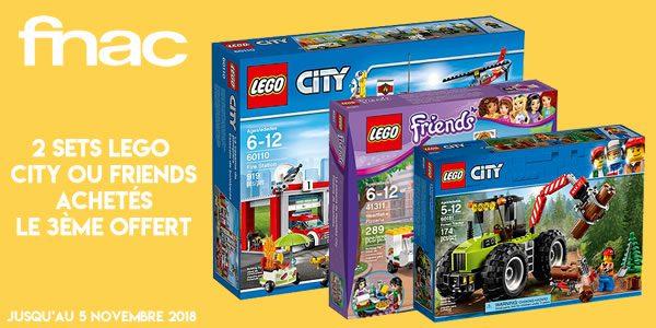 Sur FNAC.com : 2 sets LEGO CITY ou Friends achetés, le 3ème offert