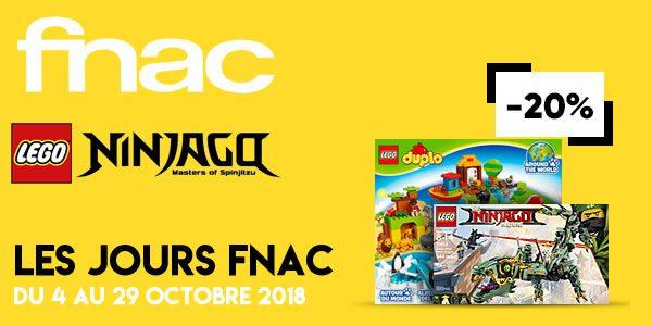 Jours FNAC : quelques promotions intéressantes sur LEGO Ninjago et DUPLO