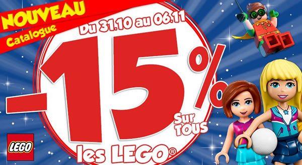 Chez Maxi Toys : -15% sur toute l'offre LEGO