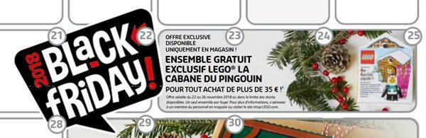 Calendrier LEGO Store - Novembre 2018