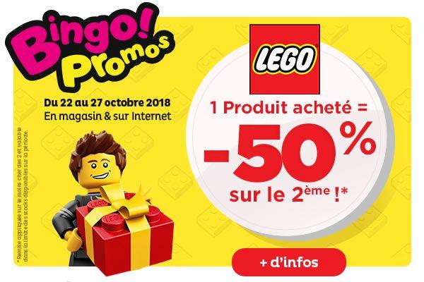 Chez Toys R Us : -50% sur le deuxième produit LEGO acheté