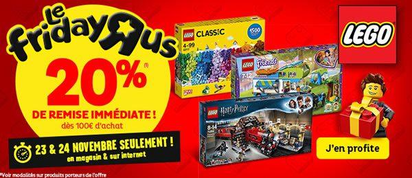 Chez Toys R Us : 20% de réduction immédiate dès 100 € d'achat