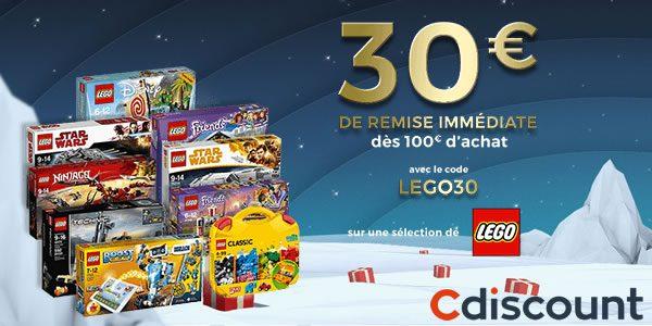 Chez Cdiscount : 30 € de réduction dès 100 € d'achat en produits LEGO
