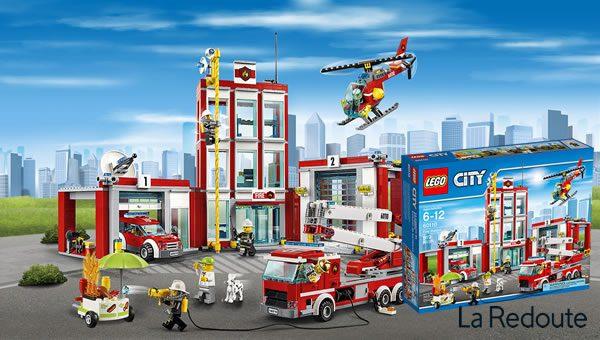 Concours : Un set LEGO CITY 60110 Fire Station à gagner avec La Redoute !