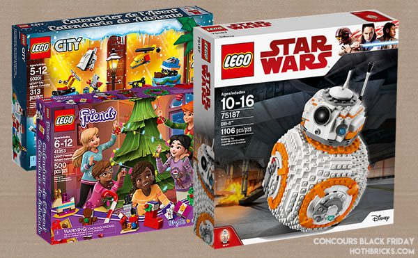 Concours LEGO Black Friday 2018 : Jour 3
