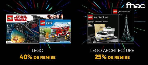 Sur Fnac.com : 40% de remise sur une sélection de sets LEGO