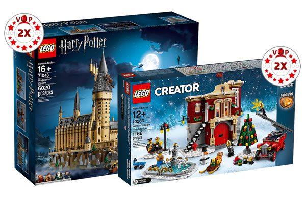 Sur le Shop LEGO : Points VIP x2 sur les sets 71043 Hogwarts Castle et 10263 Winter Village Fire Station