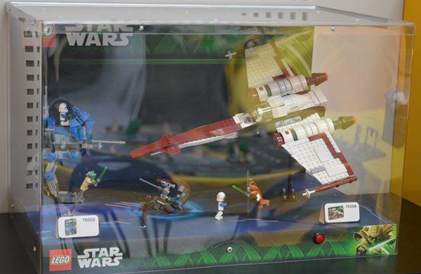 Rare Vitrine Lego Star Wars Display 75002 75004 Hoth Bricks