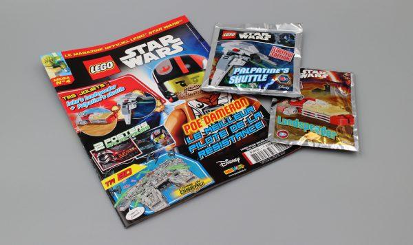 Magazine LEGO Star Wars MEGA : Palpatine's Shuttle et Landspeeder avec le N°4