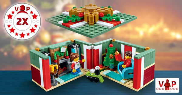 Sur le Shop LEGO : Points VIP doublés et set 40292 Christmas Gift offert