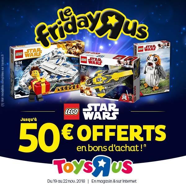 Chez Toys R Us : Jusqu'à 50 € offerts en bons d'achat