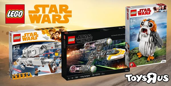 Chez Toys R Us : -50% Le 2ème set LEGO Star Wars