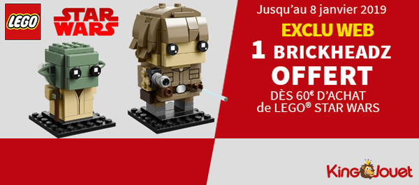 Chez King Jouet : Duo Pack LEGO BrickHeadz offert dès 60 € d'achat