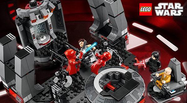 Calendrier de l'Avent #8 : Un set LEGO Star Wars 75216 Snoke's Throne Room à gagner