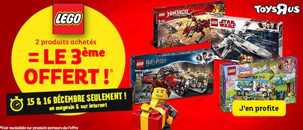 Chez Toys R Us : 2 produits LEGO achetés, le 3ème offert