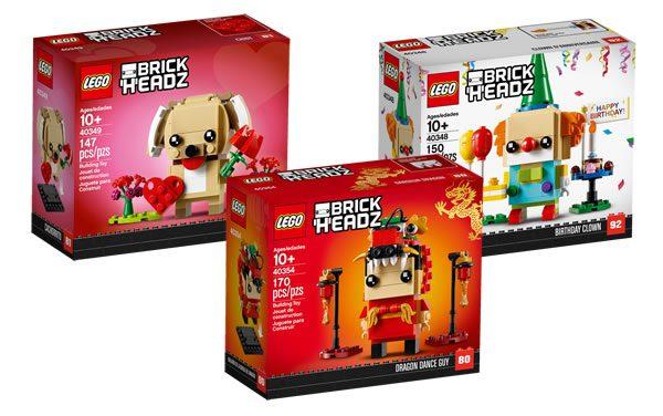 """Nouveautés 2019 : les visuels officiels des sets LEGO BrickHeadz """"Seasonal"""" prévus"""