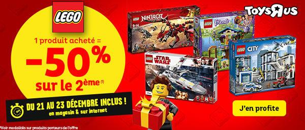 Chez Toys R Us : 1 produit LEGO acheté, le 2ème à -50%