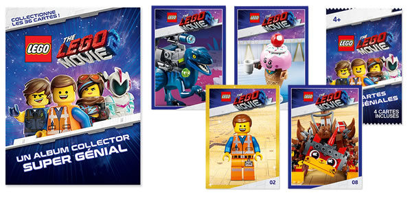 Sur le Shop LEGO : cartes à collectionner et album collector The LEGO Movie 2 offerts